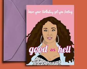 Lizzo, Good as Hell, Download, Printable, Lizzo birthday card, Good as Hell birthday card, Lizzo card, Digital, Print