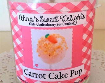 Carrot Cake Pop Girly Confectionery Soy Candle
