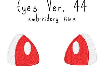 Plushie eyes EMBROIDERY MACHINE FILES pattern design hus jef pes dst all formats Instant Download digital anime doll plush applique