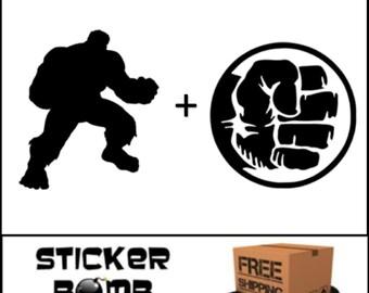 The Incredible Hulk Decal Set Sticker Marvel Comics DC JDM The Avengers S.H.I.E.L.D.