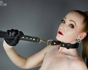Leather Choke Collar - BDSM