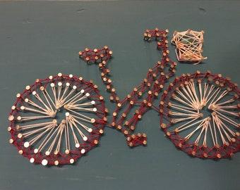 Colorful Bike String Art