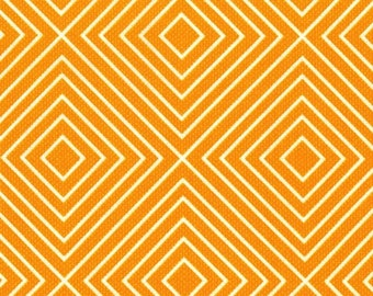 """Michael Miller Textured Basics by Patty Young Diamonds in Tangerine 13"""" Remnant"""