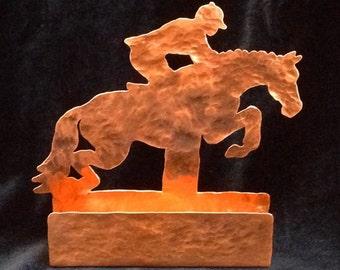 Horse business card etsy copper jumping horse business card holder horse lover gift fox hunter jumper horse desk colourmoves Choice Image