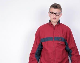 Adidas Mens 36/38 M Jacket Nylon Waterproof Tracksuit Running Vintage 90s