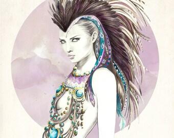 Ilustración: Lady Sioux. LIMITED EDITION.