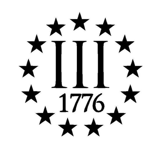 Iii 3 3 Percenter 1776 Vinyl Decal Sticker Molon Labe Gun