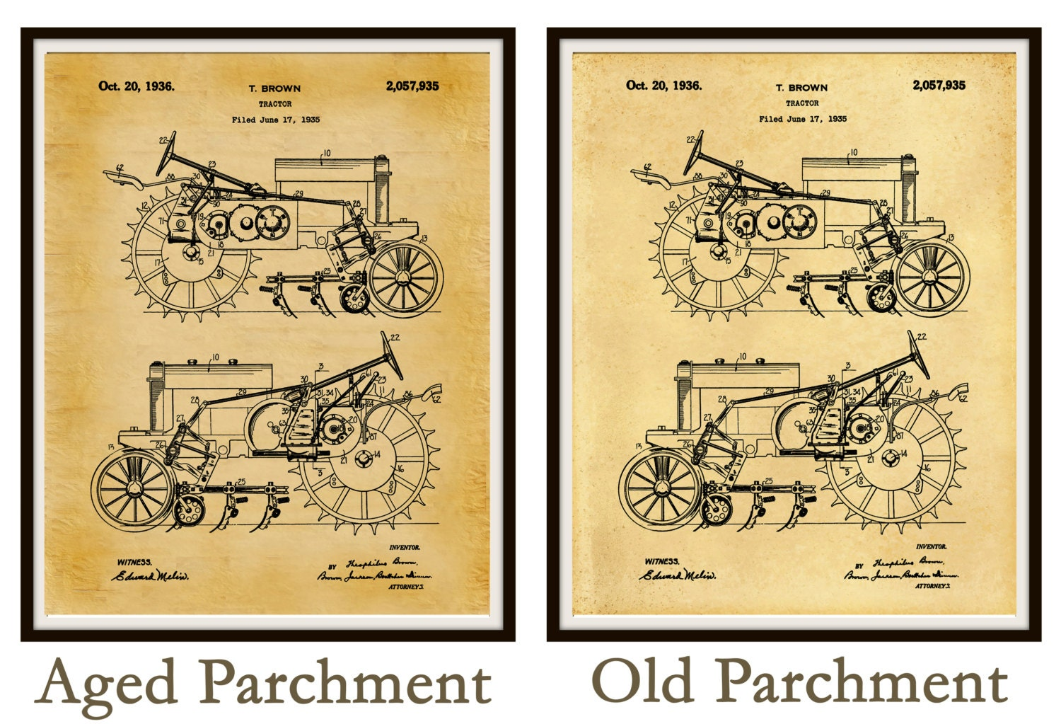 1935 John Deere B Tractor Patent Print - Poster - Agriculture Art ...
