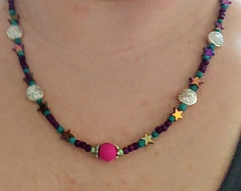 Shooting Metallic Star Necklace