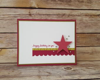 Feminine Simple Star Birthday Card
