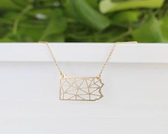 Pennsylvania Geometric Necklace   Small   ATL-N-173
