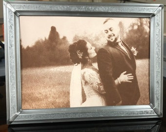 Laser engraved Leather Photos