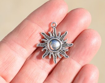 5  Silver Sun Charms SC1792