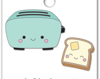 Toaster Time Collectible Pin • Doodlebug So Punny Toaster and Toast Enamel Pin (5919)