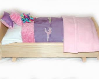 Rock Her to Sleep!  Single Doll Bed - Gymnastics American Made Girl Doll Bed - Fits AG Doll and 18 inch doll BittyBaby 18' Doll Furniture