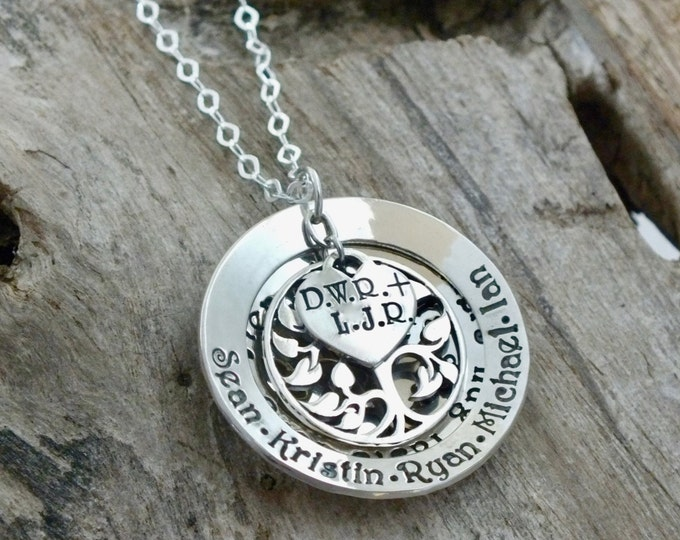 Mothers day gift, Mom Jewelry, Tree of Life Necklace, Mom necklace, Mother Necklace, Sterling silver, Gifts for Mom, Personalized Jewelry