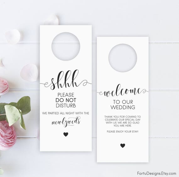 Well known Printable wedding Door Hanger Wedding favor Wedding door YI01