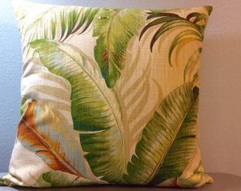Palm Pillow Cover-Beach Pillow-Lake Pillow-Tropical Pillow-Coastal Pillow-Nautical Pillow-Boat Pillow
