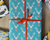 Stag Wrapping Paper -  deer wrapping paper - Christmas gift wrap- Christmas wrapping paper - birthday wrap - gift for him - decoupage - stag