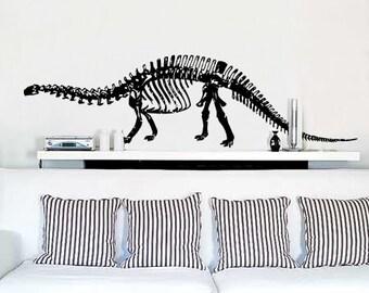 Vinyl Wall Sticker Broncosaurus Rex Dinosaur 33x120 item 379m