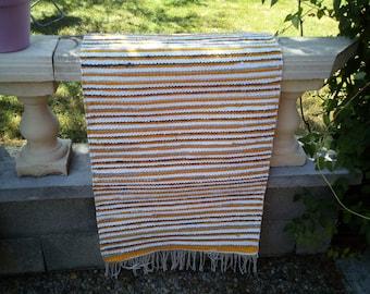"Handwoven rug ""Summer Stripes"""