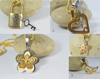 18KT Gold Filled Flower/Love/Locket Stars Pendants/Wholesale Pendants/Stainless steel /Gold filled pendant/Gold filled jewelry/Gold charm