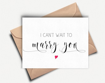 To my Bride, To my Groom on our Wedding Day, Wedding Day Card, To my Husband, Can't Wait to Marry You, Card for Groom, To My Wife, Love Card