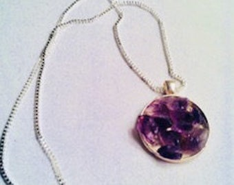 Handmade Purple Amethyst Necklace