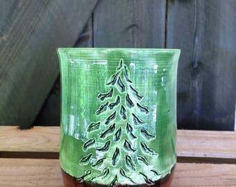 Pine Tree bathroom cup