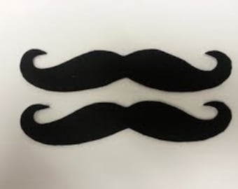 MOVEMBER 10 Pack Felt Adhesive Handlebar Mustaches, Adhesive Mustache, Mustache, Felt Mustaches, Mustache Party Pack, Mustache Party Favors