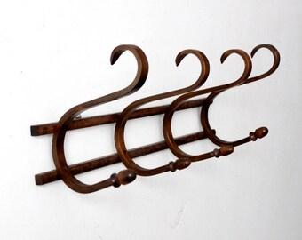 antique bentwood wall rack, coat rack, hat rack