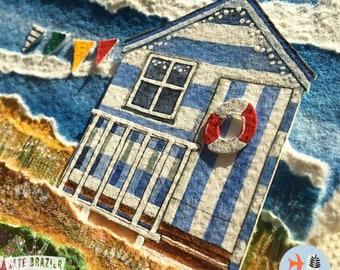 NEW PAINTING - Beach Retreat - Original layered watercolour - FRAMED