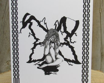 "Fairy Cards - 5 in Set, Fairy Greeting Card Set, Art Cards, 5""x6.5"" Cards, Faerie Cards, Fairy Art, Fairy Drawing, Fairies"