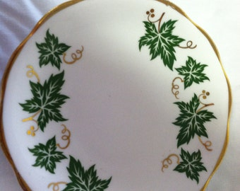 Delphine Bone China Coaster Made in England Leaf pattern