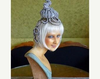 ON SALE ON Sale 1920s Original Revue Headpiece, Antique French Head Dress, Head Pice, Flapper, Burlesque, 1920s