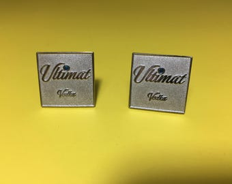Ultimat Vodka Square Cufflinks