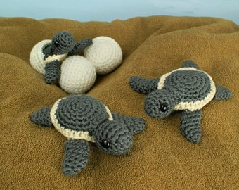 PDF Baby Sea Turtle Collection - three amigurumi CROCHET PATTERNS