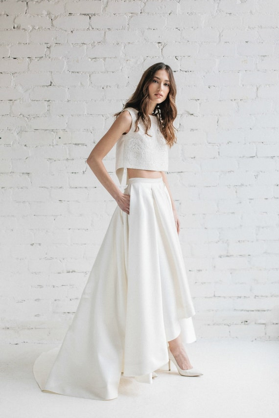 High Low Wedding Skirt Bridal Separates Bridal Skirt