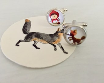 Red Riding Hood cuff links