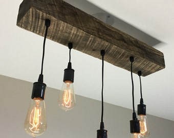 etsy industrial lighting. Etsy Industrial Lighting. Choose Size Made To Order Reclaimed Barn Timber Beam Light Fixture With Lighting N