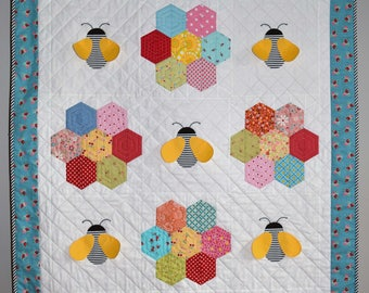 PDF Baby Bee Quilt Pattern in PDF for Digital Download
