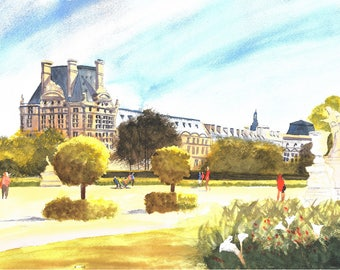 Louvre watercolour original