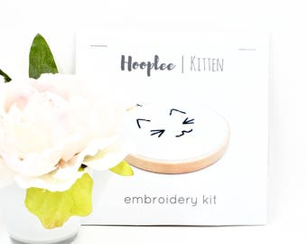 Kitten DIY Kit | Embroidery Kit | Beginner | DIY Gift for Her | Embroidery Tutorial | Modern Embroidery | Contemporary