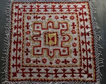 Vintage Mediterranean Jeweled Tablecloth Shawl