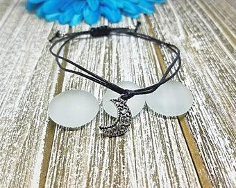 Moon Bracelet, Scroll, Moon, Summer, Minimalist, Adjustable, String Bracelet, Macrame Bracelet, Friendship, Wish Bracelet, Simple Bracelet
