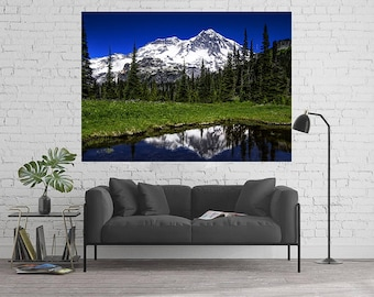 Canvas Art, Mountain, Mt. Rainier, Pacific Northwest, Hiking, Canvas, 12x16, 16x20, 18x24, 20x30, 24x32, 30x40, 40x60