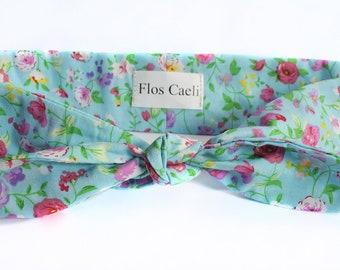 Blue Flower Headband - Cute Floral feminine Headband