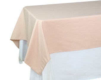 Blush Tablecloths 60 x 102 inches Rectangular, Blush Table Overlays | Wholesale Blush Table Linens