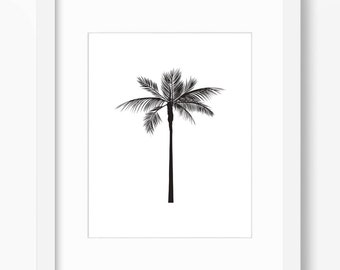 Palm Tree Print, Palm Tree Art, Graphic Palm Tree, Tropical Art, Palm Print, Black Palm Tree, Minimalist Art, Palm Tree Wall Print, Hawaii