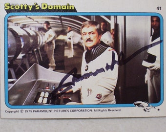 Vintage Star Trek Scotty's Domain James Doohan Autographed Trading Card, No. 41 Signed 1979